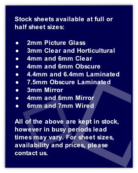 single glass and stock sheets